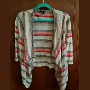 Torrid Striped Cardigan Shawl Sweater Size 00